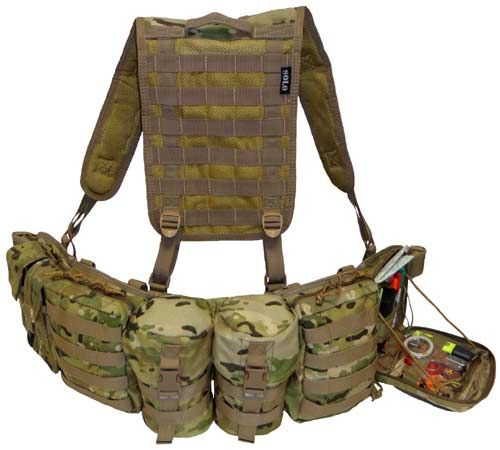 The Commanders Long Range Patrol belt in All Terrain pattern (ATP) has internal moulded comfort neoprene padding that adds extreme comfort when wearing for long periods at a time. The belt is 3 molle loops wide for maximum load carriage enhancement for pouches. Camouflage is unique design that can be worn with Multicam or MTP camouflage. Belt includes pouches and Jungle harness as shown on Photos.