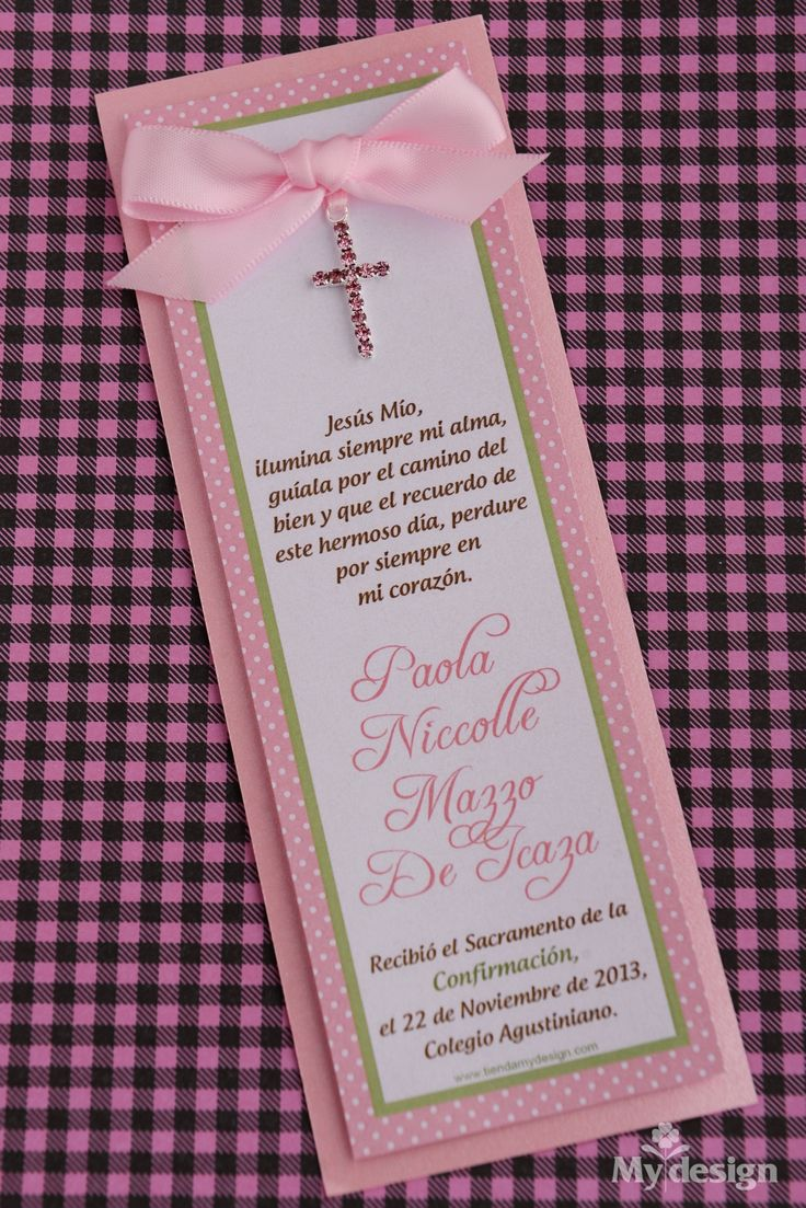 New Post has been published on http://tiendamydesign.com/panama/invitacion-a-confirmacion-con-cruz-rosadaInvitación a confirmación con cruz rosadaSeparadores de página para recordatorios a confirmación para niña. Evento:Confirmación de Paola NiccolleCódigo:3856