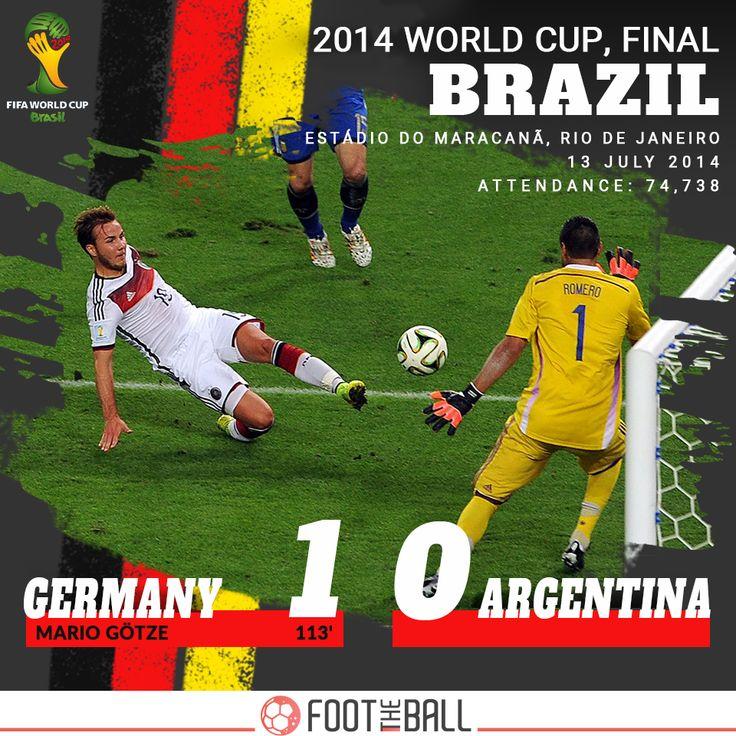 The Twentieth Edition. 2014. Germany won 1-0 on 13 July 2014, defeating Argentina in Brazil. . . . #Germany #Argentina #Brazil #MarioGotze #Gotze #Götze #MarioGötze Messi10 #LionelMessi #RussianRoulette #Russia2018 #WorldCup2018 #FootTheBall #Russia2018WorldCup #WorldCup #Switzerland #football #soccer #footballer