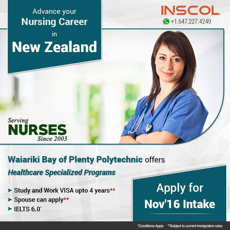 Great Opportunity for #Nurses who wants to 'Study, Work and Live' in #NewZealand. Enroll today for Nov'16 intake!