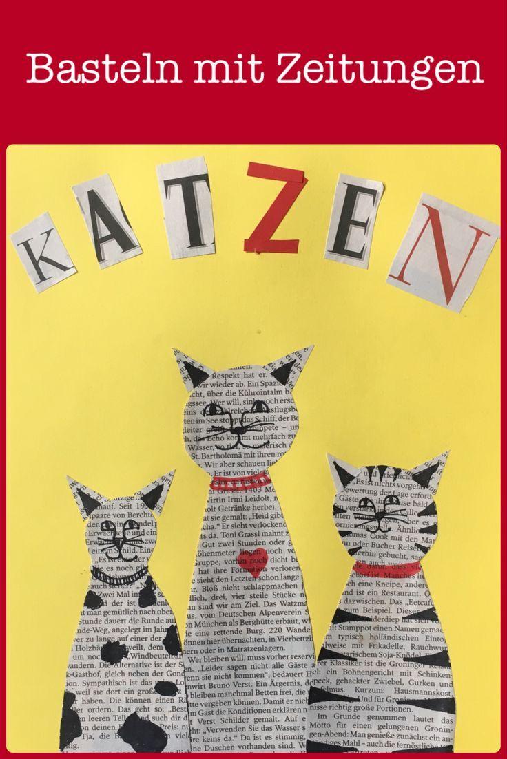 Ein Kleid Voller Geschichten Ein Spielerischer Umgang Mit Buchstaben Und Wortern Alte Zeitung Katze Basteln Zeitschriften Fur Kinder