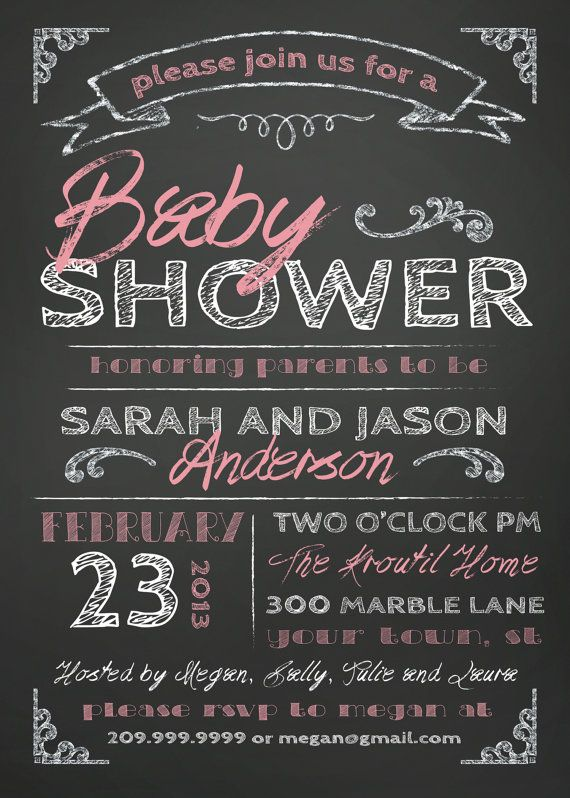 COUPLES BABY SHOWER invitation  chalkboard by SLDESIGNTEAM on Etsy, $18.00