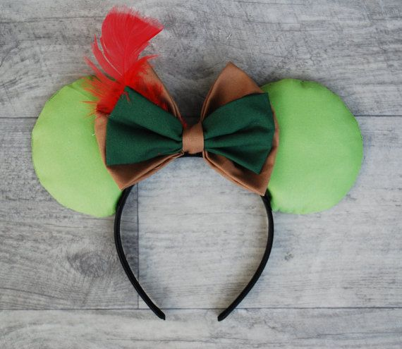 Peter Pan Inspired Mouse Ears by MousearsINC on Etsy