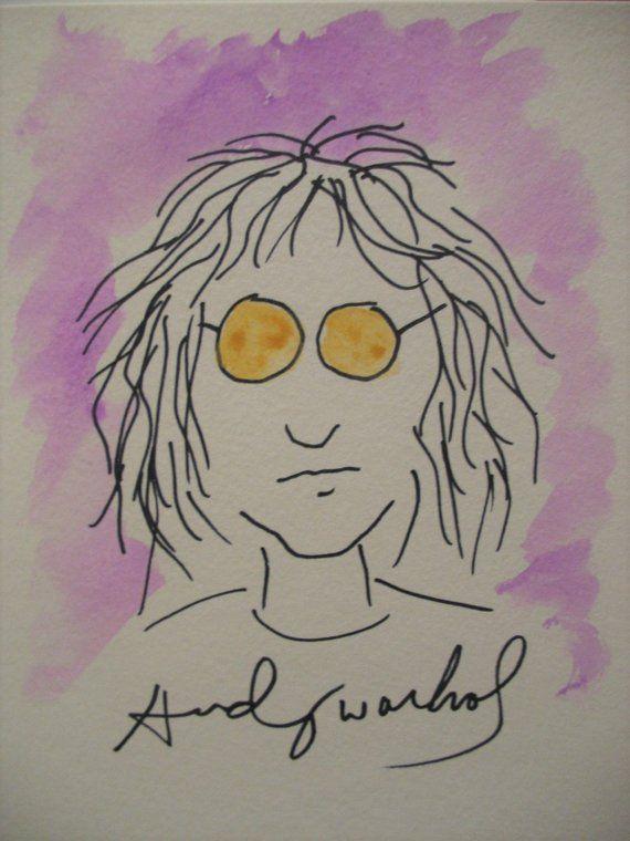 Andy Warhol Original John Lennon Not A Print Andy Warhol Andy