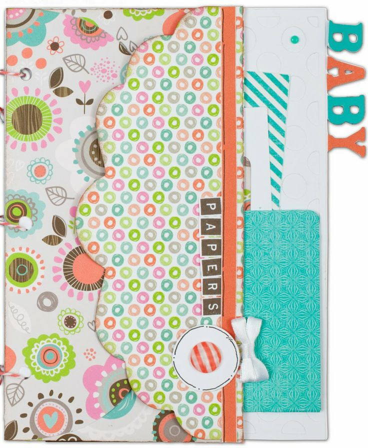 Artbooking Made Easy: Baby Mini Albums Darling baby-themed mini albums made using the Cricut® Artbooking Collection #CTMH