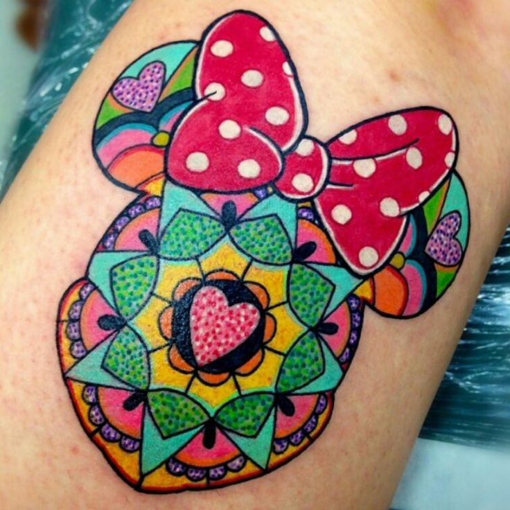 Minnie Mouse Mandala All Things Disney Pinterest Minnie Mouse Tattoo And Life Tattoos