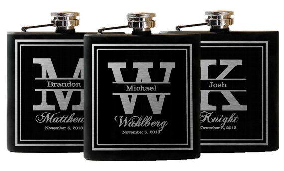 Groomsmen Gifts Wedding Flasks Personalized by UrbanFarmhouseTampa