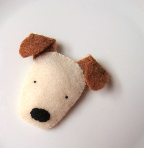 Felt Brooch Cute Dog Pin Badge Terrier Softie Handmade MiKa Art - Etsy