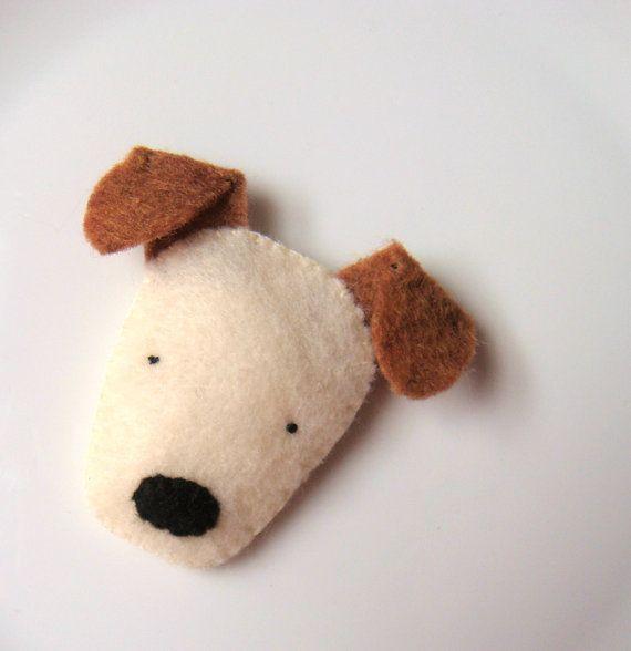 Felt Brooch Cute Dog Pin Badge Terrier Softie Handmade MiKa Art - Etsy