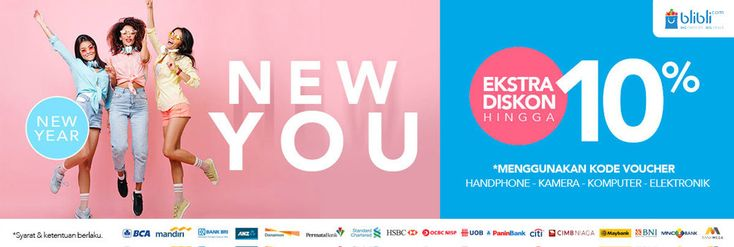 Produk Baru di Tahun Baru, Beli Gadget dan Elektronik Ekstra Diskon 10% Menggunakan Kode Voucher Blibli - PriceArea.com