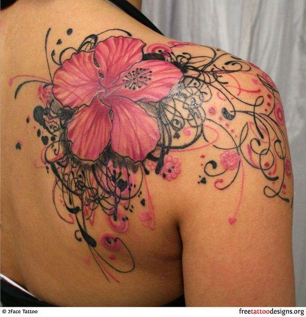 Fleur arrière épaule