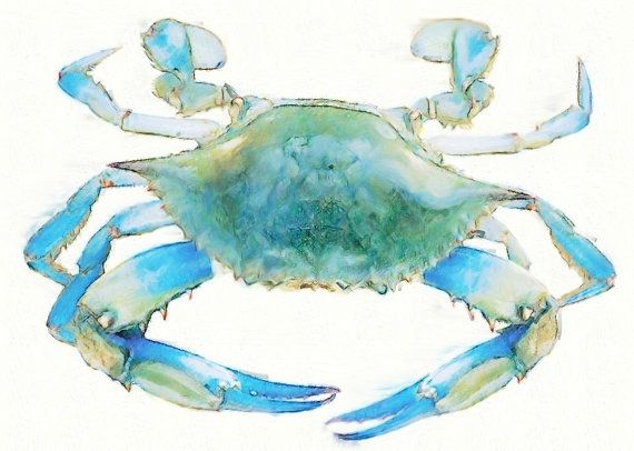 For our son and daughter in law in Georgia who miss our Maryland Blue Crabs