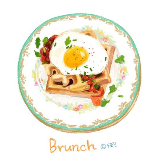 Food illustration, brunch by domorin_s, via Flickr