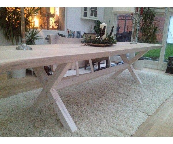 Spisebord, Douglas fyr, b: 90 l: 340, Smukt plankebord med