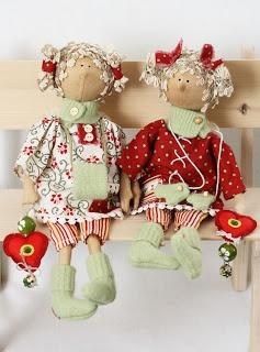 """Lucias handmade: Ангелочки СердеШные """"Новогоднее настроение"""""""