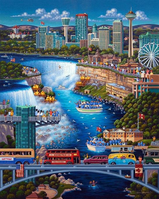 Niagra Falls by Eric Dowdle - Niagra Falls, Canada