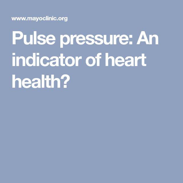 Pulse pressure: An indicator of heart health?
