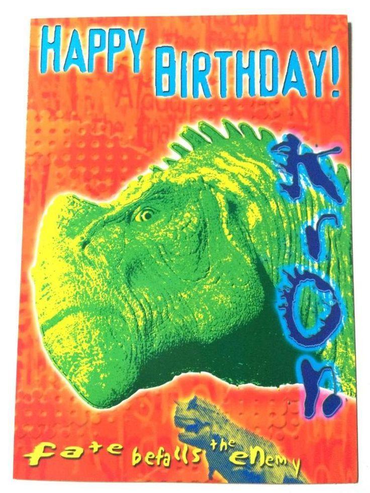 Disney Dinosaur Happy Birthday card & envelope message inside celebration new