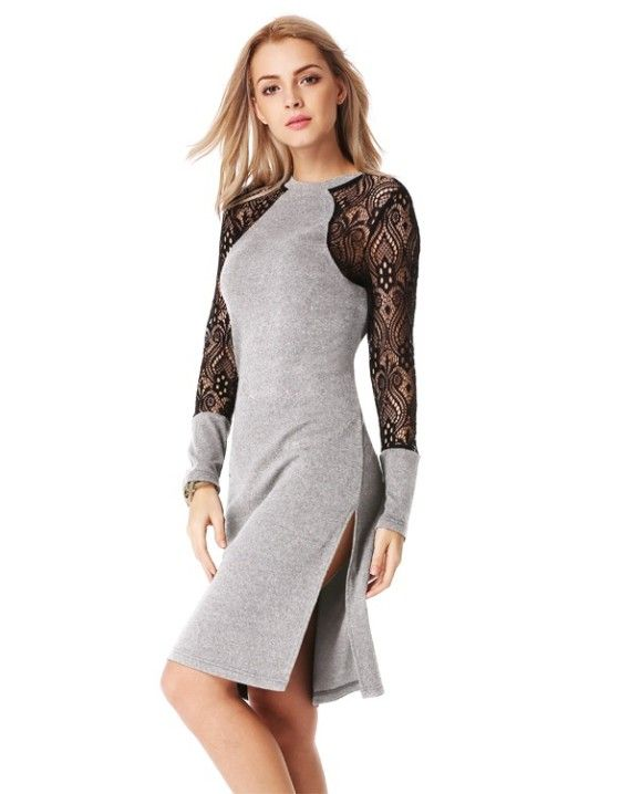 Shopo.in : Buy Lace Patchwork Dress online at best price in Pune, India