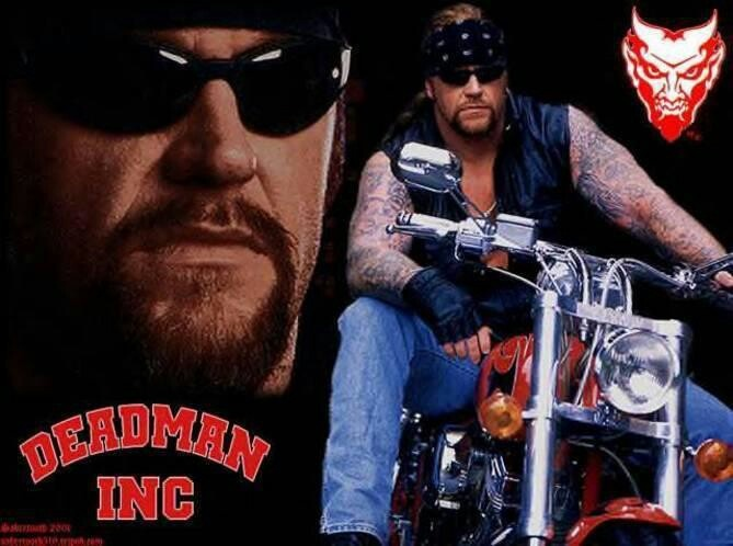Undertaker  WWE when he use to be in hes motercycle
