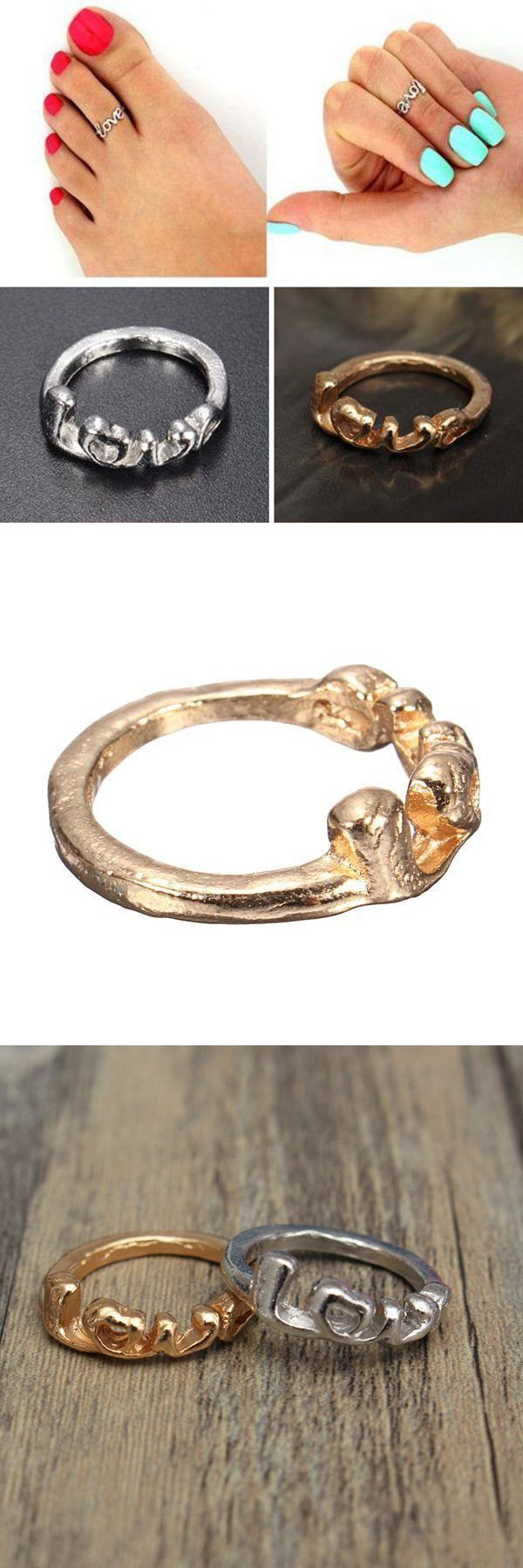 Cute gold silver love letter toe ring for women foot beach jewelry body jewelry joplin mo #body #jewelry #atlanta #body #jewelry #etsy #body #jewelry #online #best #body #jewelry #source #coupons #2014