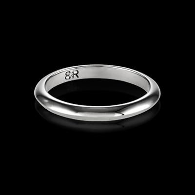 FOR HER - Fortis wedding band. Available in 18K white gold or platinum. Designed to match perfectly with the Fortis engagement ring.
