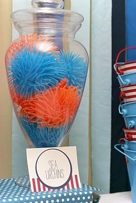 Underwater Party Decor - sea urchins!