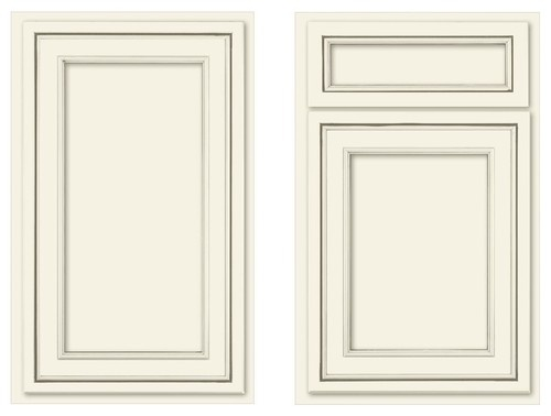 Canvas Recessed Panel Traditional Kitchen Cabinets Soft
