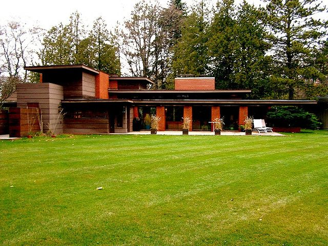 Bernard schwartz house 1939 usonian style two rivers for Frank lloyd wright usonian home plans