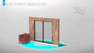 Vitswell SSB(Smart Section Blinds) image vedio