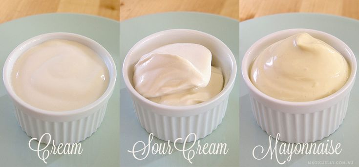 Recipes for vegan cream, sour cream and mayo, as well as variations including french onion dip and tartar sauce.