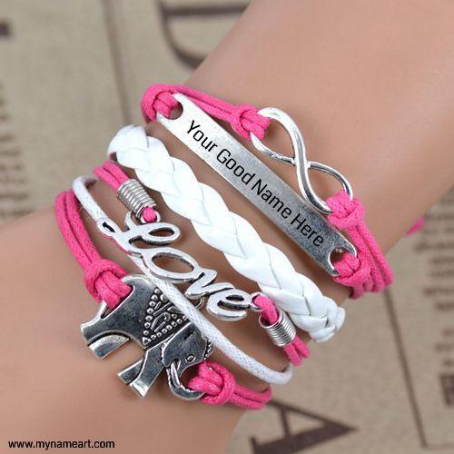 write you beautiful and stylish name on bracelet image ...