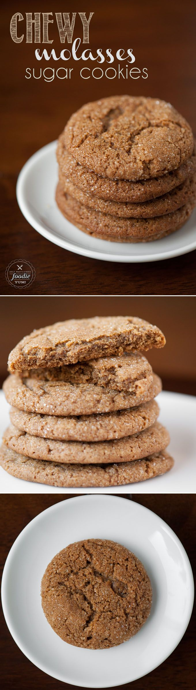 Chewy Molasses Sugar Cookies are easy to make holiday favorites, and each soft and chewy bite packs the perfect amount of sweet and spice.
