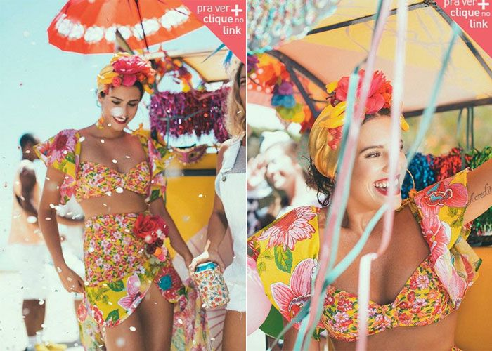 """Vai pular Carnaval e ainda não tem fantasia? A marca carioca Farm lança todo ano uma coleção especial inspirada na comemoração. A aposta é usar roupas mais leves, perfeitas pra aguentar o calor brasileiro de fevereiro e março.Outra coisa legal é que a maioria das peças pode ser usada como """"roupa normal"""" no resto do ano, tipo o vestido de Anjinha. Diferente do ano passado onde foram feitos alguns looks..."""