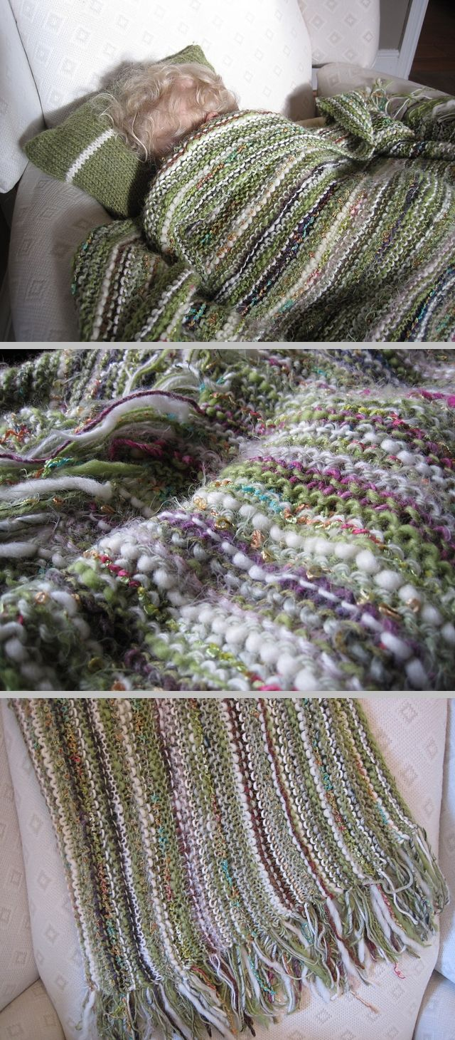 Knitting Stitch Patterns For Chunky Yarn : Inspiration design your own throw knit pattern by