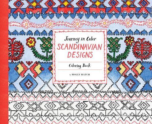 Journey In Color Scandinavian Designs Coloring Book Fun Outlines Black