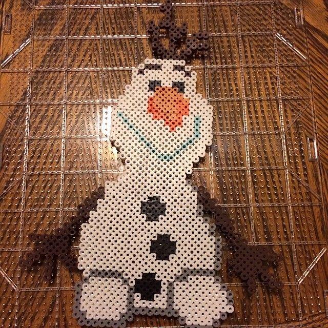 Olaf Frozen Disney perler beads by stephanie