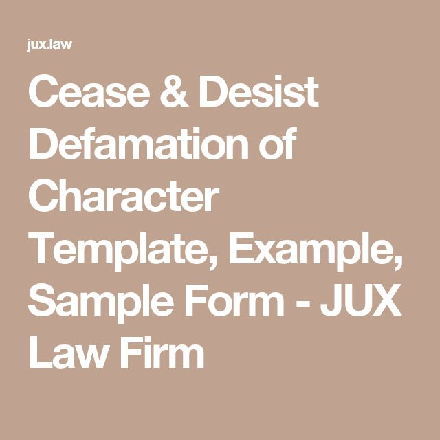 Best 25+ Defamation of character ideas on Pinterest Reputation - cease and desist order sample