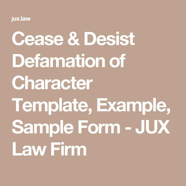 Best 25+ Defamation of character ideas on Pinterest Reputation - sample harassment complaint form