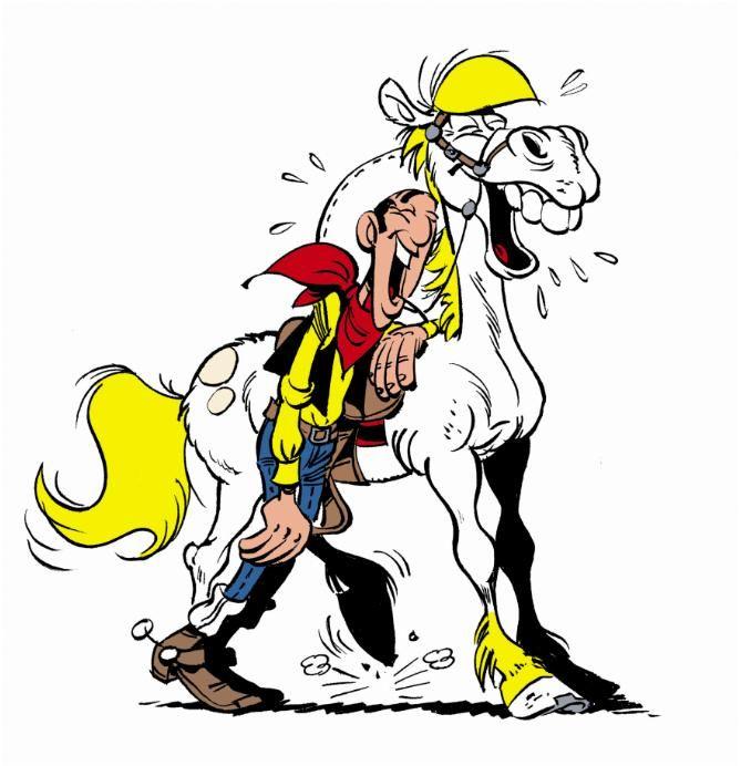 Dessin en couleurs à imprimer : Personnages célèbres - Bandes dessinées - Lucky Luke numéro 9747