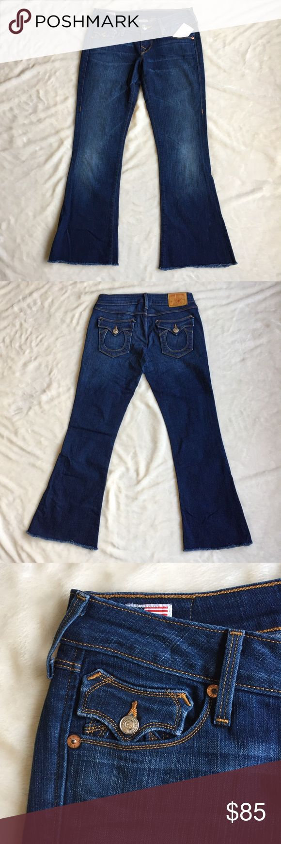 True Religion Karlie Bell Bottom Capri Crop Jeans True Religion New without tags, Dark Blue Karlie Bell Bottom Capri Cropped Jeans. True Religion Jeans