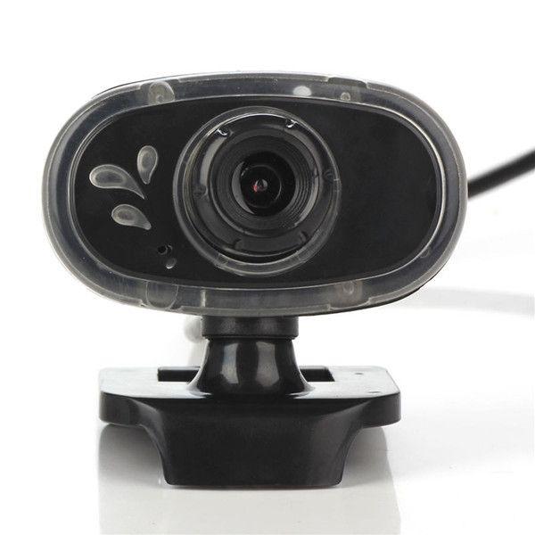 A881 USB 360º Rotation Blue Light 12 Million Pixels with Mic Webcam Camera for PC Laptop
