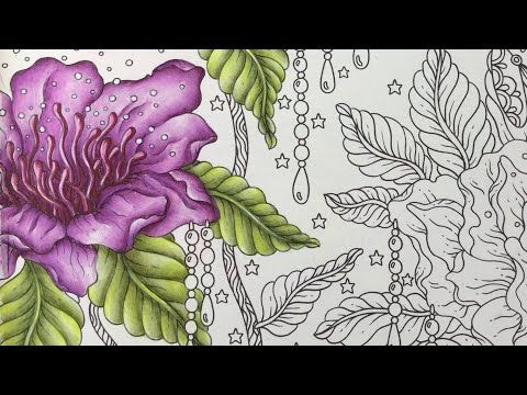 MAGISK GRYNING - magical dawn by Hanna Karlzon - part 2 - prismacolor pencils - YouTube