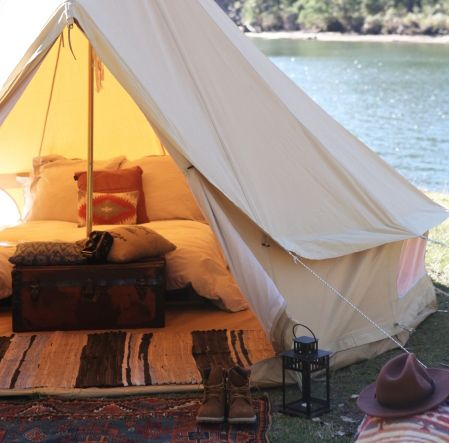 The Seek Society 4m 'Londonderry' bell tent is Australia's best quality bell tent and an investment in style and comfort for your next adventure, music festival, event or to pitch in your own backyard