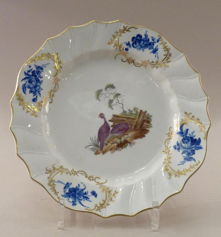 Assiette p te tendre d cor d 39 oiseaux for Decoration 18eme siecle