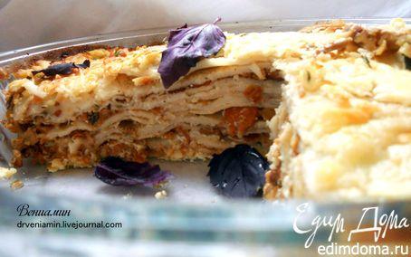 Блинная лазанья с лисичками и творожным кремом | Кулинарные рецепты от «Едим дома!»