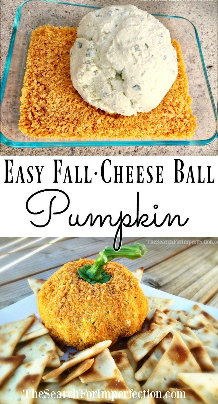 Easy Fall Cheese Ball Pumpkin | Pumpkins, The o'jays and Fall