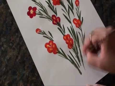 ▶ Kids Crafts - finger painting - YouTube - for Rosemaling project (Norway)