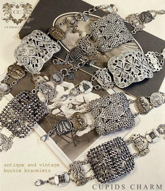 shoe buckle bracelet: Decor Crafts, Crafts Ideas, Vintage Bracelets, Buckles Bracelets, Buttons Bracelets, Old Shoes, Vintage Shoes, Shoes Buckles, Antiques Shops