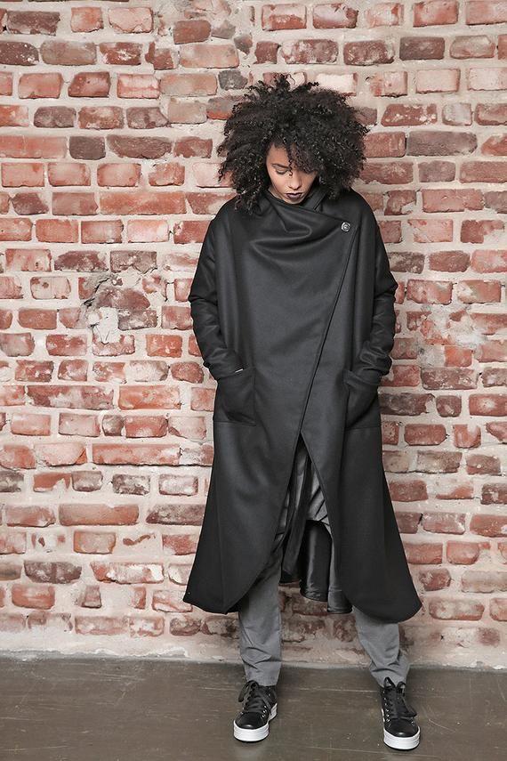 Maxi Mantel Kaschmir Mantel Damen Mantel Oversize